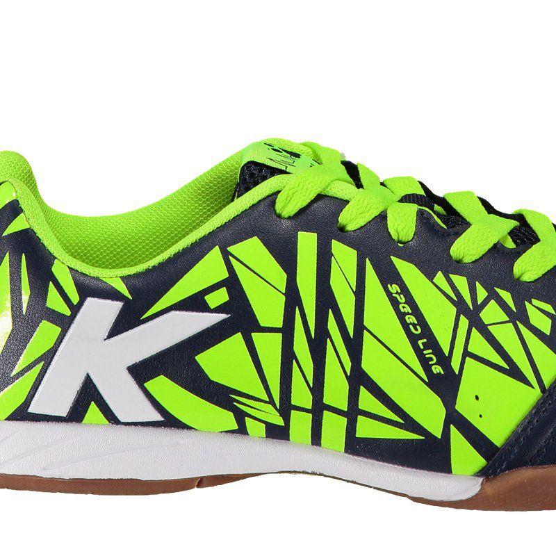 79c750350a3 Tênis de Futsal Kelme Subito - Preto e Neon - MUNDO DO FUTSAL