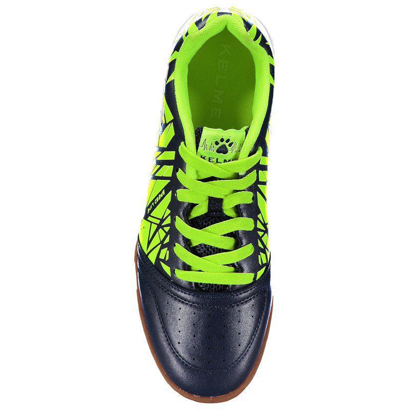 332f1f0eda ... Tênis de Futsal Kelme Subito - Preto e Neon - Imagem 3 ...