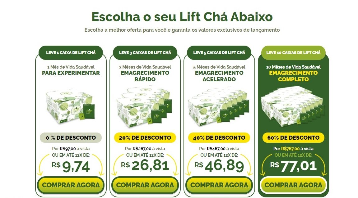 lift chá valor