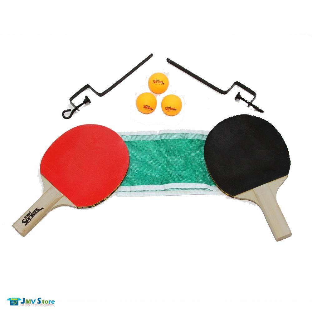 187c65150 ... Kit Ping Pong Tênis Mesa Raquetes Rede Bolinhas Bel Sports - Imagem 3  ...