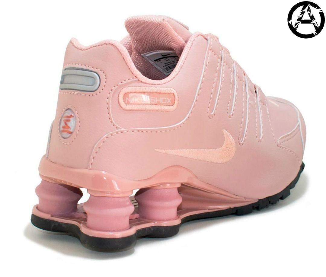 nike shox feminino rosa bebe