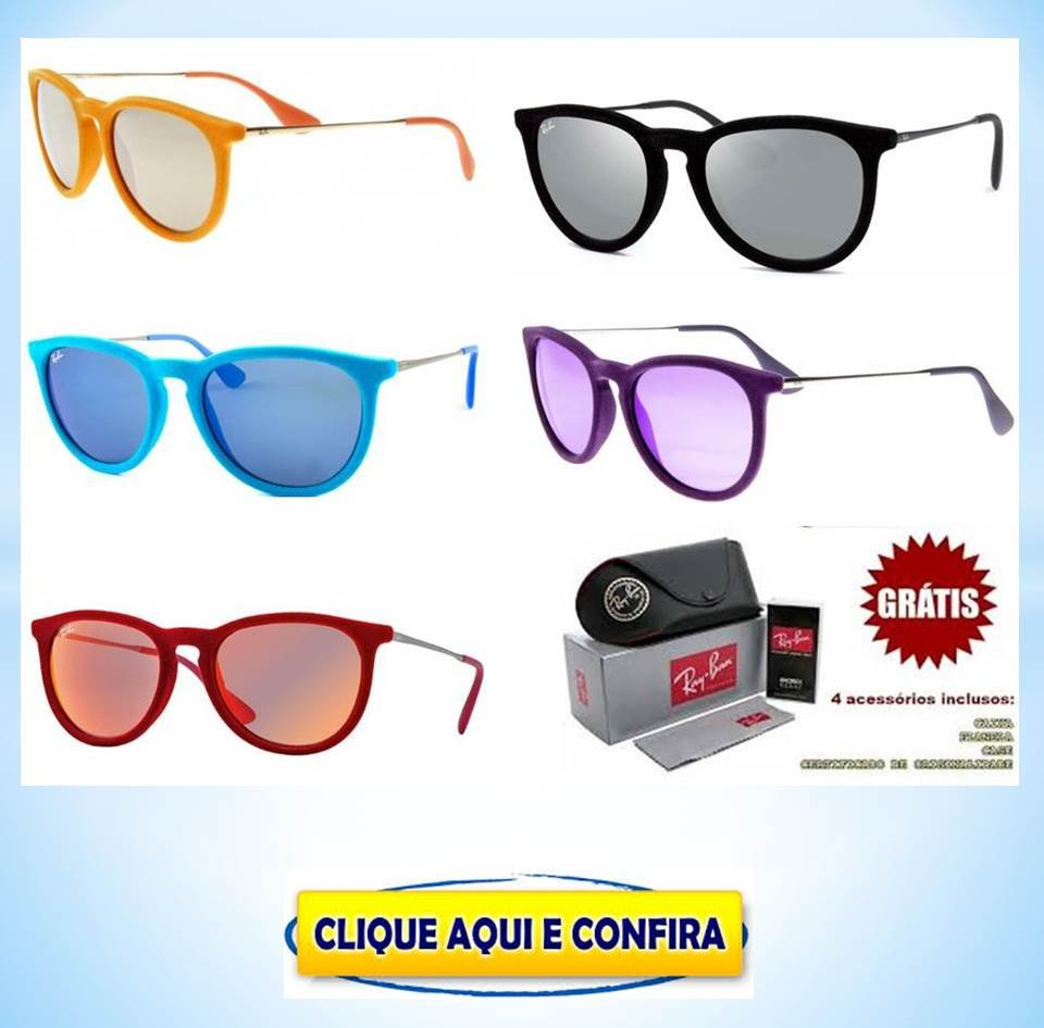 ef0d08254 Óculos Ray Ban Erika replica perfeita de primeira linha baratos no ATACADO  para revenda