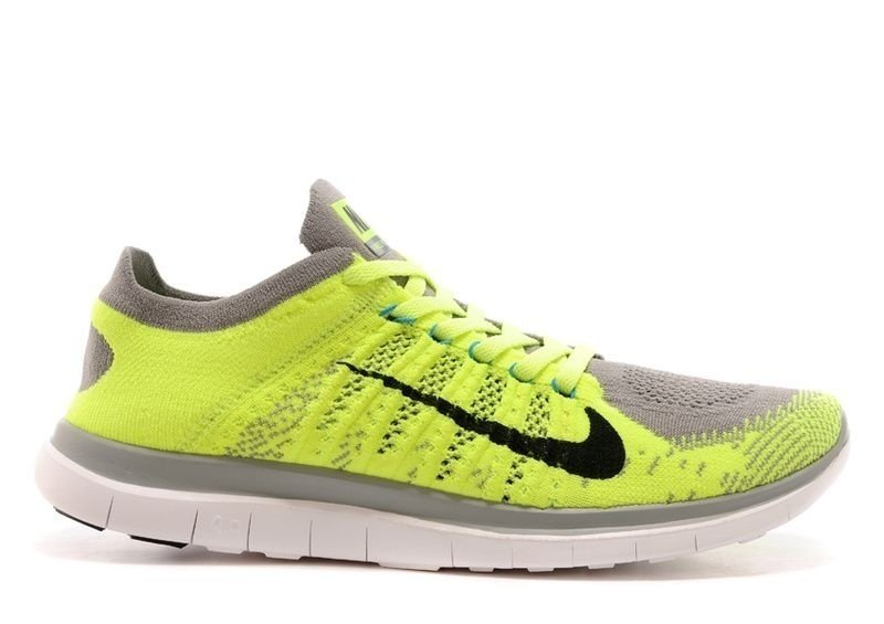 aba6febd173 ... Tênis Nike Free 4.0 Flyknit - Masculino - Verde e Cinza - Imagem 5
