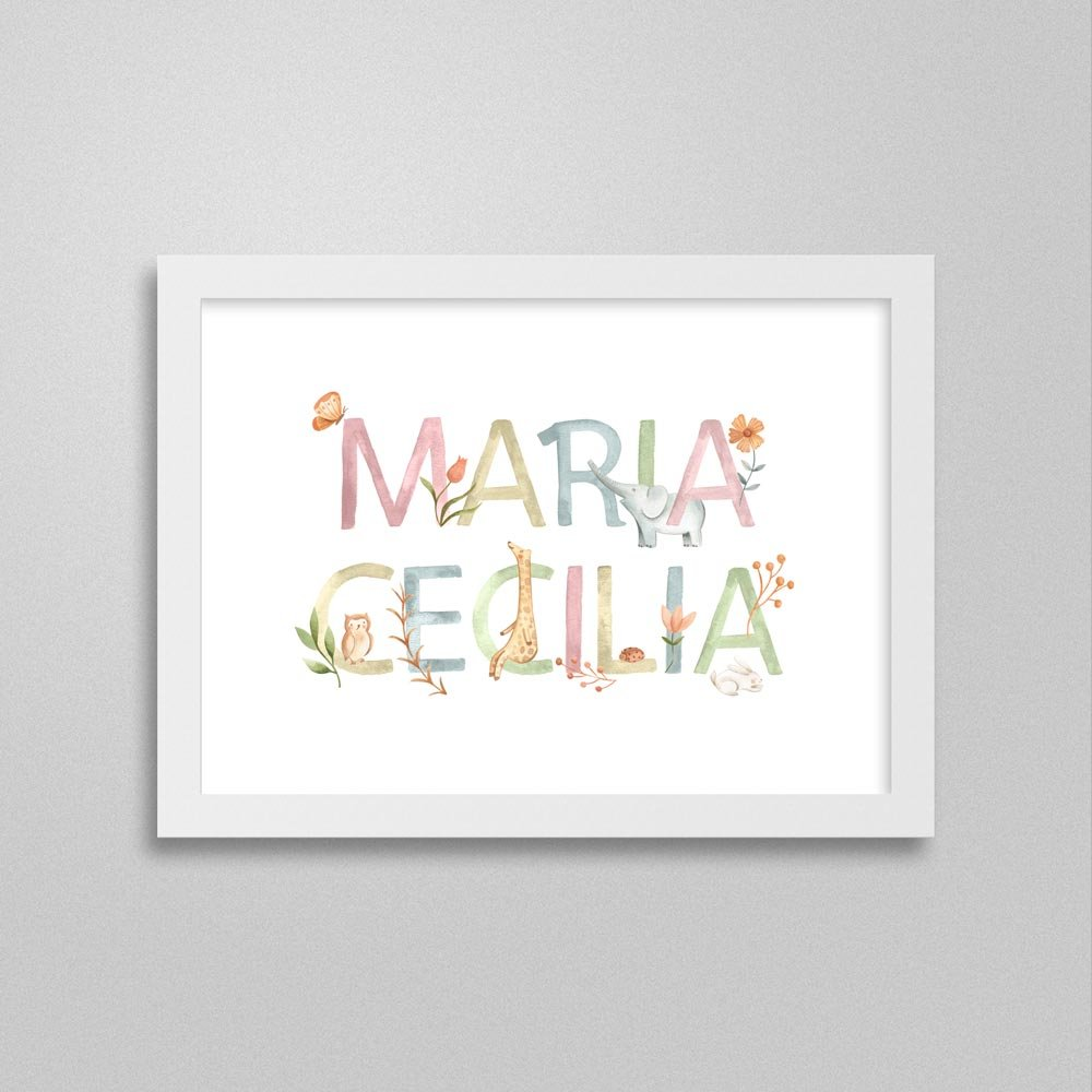 Quadro nome Maria Cecilia