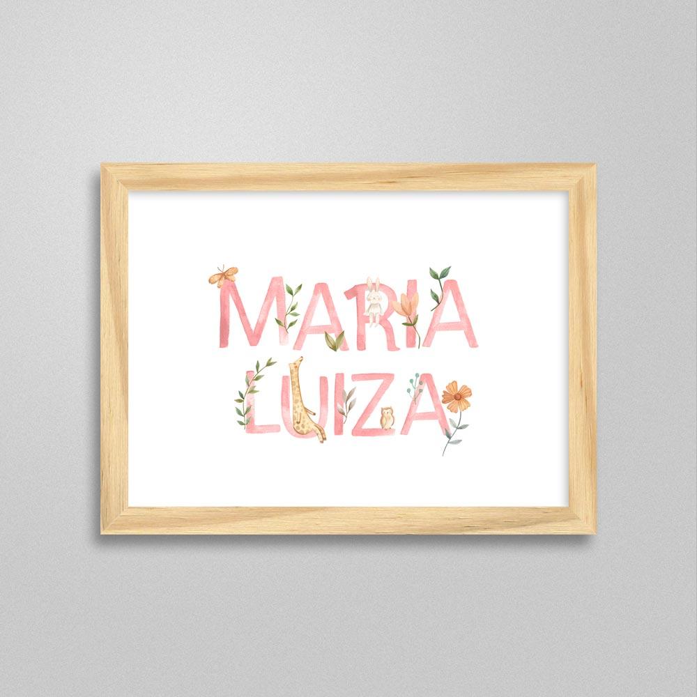 Quadro com nome Maria Luiza
