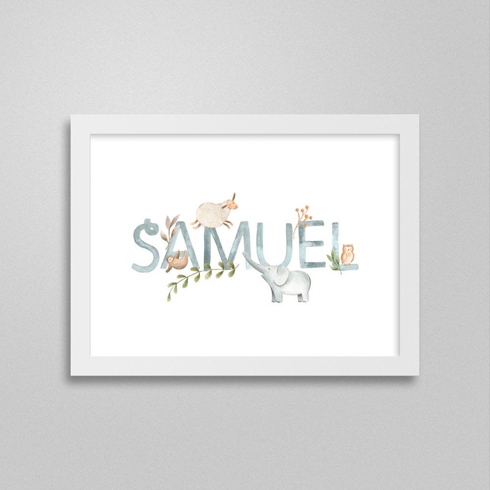 Quadro com nome Samuel
