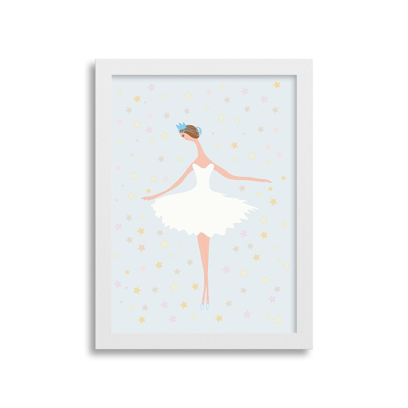 Quadrinho Bailarina Azul para decorar quarto de menina