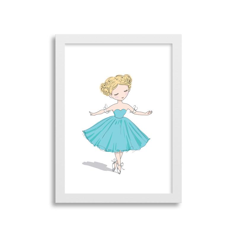 Quadrinho Dançarina Vestido Azul