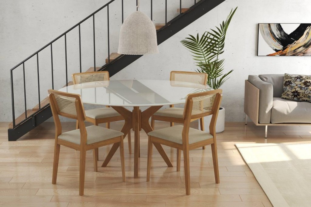 Image of: Conjunto Mesa E Cadeira Turim Stockhome Stock Home Qualidade E Elegancia A Um Clique De Distancia