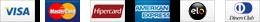 American Express, Visa, Diners, Mastercard, Aura, Hipercard, Elo, JCB